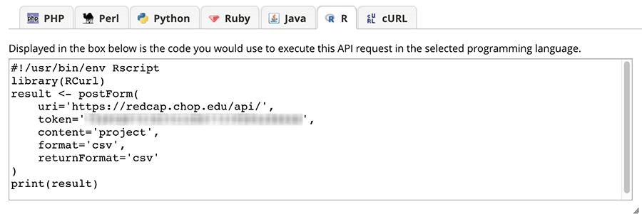 Using the REDCap API